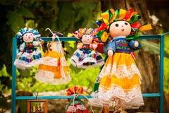 Lupita Dolls colorée baptisée du nom de Guadalupe Janitzio Island Patz Photos libres de droits