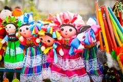 Lupita Dolls colorida nombrada después de Guadalupe Janitzio Island Patz Imágenes de archivo libres de regalías
