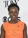 Lupita Nyong'o. Acclaimed African actor Lupita Nyong'o arrives for the 70th Annual Tony Awards Meet the Nominees press reception.  The event was held at the Royalty Free Stock Image