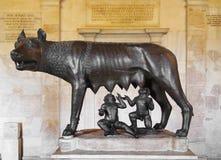 Lupo di Capitoline, Roma immagini stock libere da diritti