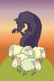 Lupo fra le pecore Illustrazione di Stock