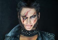 Lupo mannaro professionale Wolverine di trucco Immagine Stock