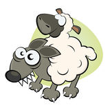 Lupo in vestiti della pecora Immagini Stock Libere da Diritti