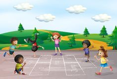 Luppolo del gioco di bambini scozzese illustrazione vettoriale
