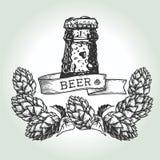 Luppolo di goccia della birra Immagine Stock