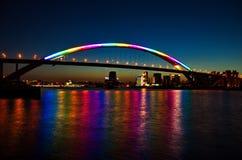 Lupu Bridge Night. Eastphoto, tukuchina,  Lupu Bridge Night Stock Image