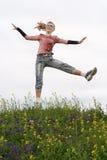 Lupulización de la muchacha al aire libre Fotografía de archivo