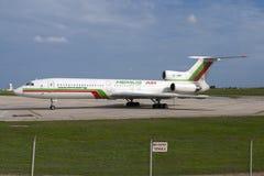 Luqa,马耳他2005年9月30日:俄国被制造的图-154 免版税库存照片