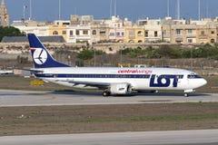 Luqa,马耳他2005年9月21日:全部波兰语737 库存照片