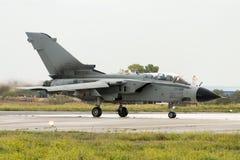 Luqa,马耳他2004年9月27日:意大利人空军队龙卷风 免版税库存照片