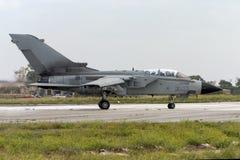 Luqa,马耳他2004年9月27日:意大利人空军队龙卷风 库存照片