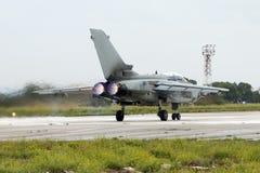 Luqa,马耳他2004年9月27日:意大利人空军队龙卷风 库存图片