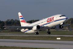 Luqa,马耳他- 2007年11月20日:捷克737 免版税库存照片