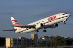 Luqa,马耳他- 2007年11月20日:捷克737 免版税库存图片