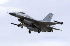 Luqa,马耳他- 2015年9月25日:比利时人F-16AM 库存图片