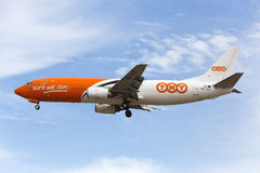 Luqa,马耳他- 2015年9月25日:737登陆 免版税图库摄影