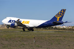 Luqa,马耳他- 2015年9月26日:747登陆 免版税库存照片