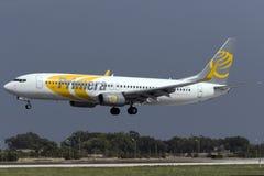 Luqa,马耳他2015年10月7日:737登陆 免版税图库摄影