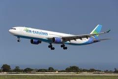 Luqa,马耳他2015年10月8日:A330着陆 库存图片