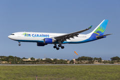 Luqa,马耳他2015年10月8日:A330着陆 免版税库存照片