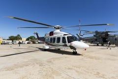 Luqa,马耳他- 2015年9月26日:AW-189直升机 库存图片