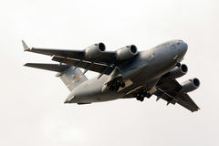 Luqa,马耳他2015年10月24日:C-17着陆 免版税库存图片