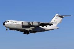 Luqa,马耳他- 2015年9月22日:C-17A着陆跑道31 库存图片