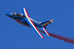 Luqa,马耳他, 2010年9月25日:法国阿尔法喷气机 库存图片