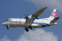 Luqa, Μάλτα, στις 15 Οκτωβρίου 2007: Antonov ένας-140 Στοκ φωτογραφία με δικαίωμα ελεύθερης χρήσης