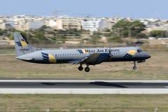Luqa, Мальта 18-ое августа 2015: Посадка ATP Стоковое Изображение