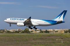 Luqa, Мальта - 10-ое сентября 2015: Корсар A330 стоковое фото
