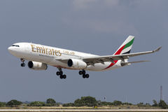 Luqa, 10 August 2015: Emirates A330. Royalty Free Stock Photography
