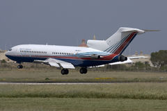 Luqa, Malta, 21 April 2008: Boeing 727 die landen Royalty-vrije Stock Afbeelding