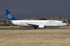Luqa, Malta, 26 April 2008: 737-400 taxiing. Stock Photos