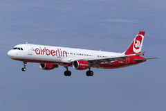 Luqa, Malta 16 August, 2015: Air Berlin A321. Stock Images