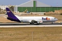 Cargo 737 landing Royalty Free Stock Image