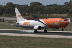 Luqa, Malta 18 August, 2015: TNT 737 landing.. Stock Photography