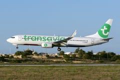 Luqa, Malta 17 August, 2015: Transavia France. Stock Images