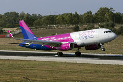 Luqa, Malta 14 August, 2015: Wizzair A320. Royalty Free Stock Image
