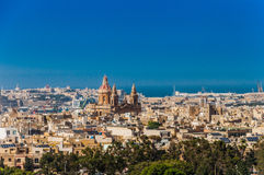 Luqa in Malta. City Luqa in Malta island and his houses with church Stock Image
