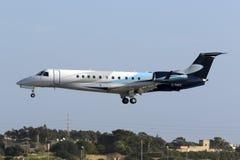 Luqa, Malta 12 de janeiro de 2016: Embraer em finais Fotos de Stock Royalty Free