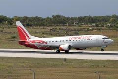 Luqa, Malta - 11 de julho de 2007: Polonês 737 Imagem de Stock