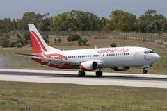Luqa, Malta - 11 de julho de 2007: Polonês 737 Foto de Stock Royalty Free