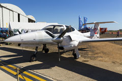 Luqa, Malta 26 de septiembre de 2015: Diamond Light Aircraft Imagenes de archivo
