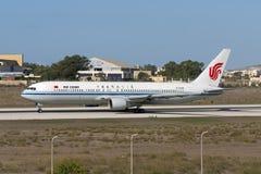 Luqa, Malta 20 de setembro de 2005: Air China 767 Fotografia de Stock