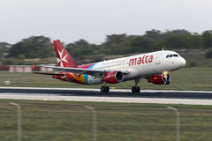 Luqa, Malta - 20 de setembro de 2015: Ar Malta A320 Imagens de Stock Royalty Free