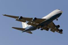 Luqa, Malta - 26 de setembro de 2015: 747 aterrando Fotos de Stock Royalty Free