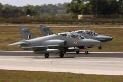 Luqa, Malta 6 de setembro de 2008: Falcões na entrega à Índia Fotografia de Stock