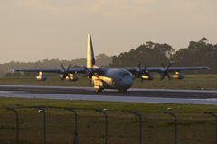 Luqa, Malta - 17 December 2015: C-130J in the early morning light. Royalty Free Stock Photography