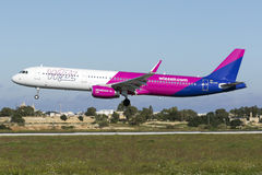 Luqa, Malta - 23 December 2015: Newest addition for WizzAir. Stock Photography